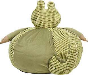 Kids Plush Crocodile Pouf Round Animal Pillow, , large