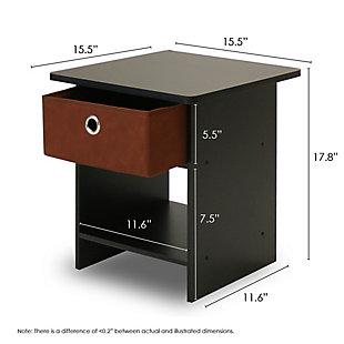 Single Drawer Nightstand, , large
