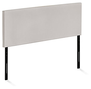 Upholstered Queen Panel Headboard, Fog, large