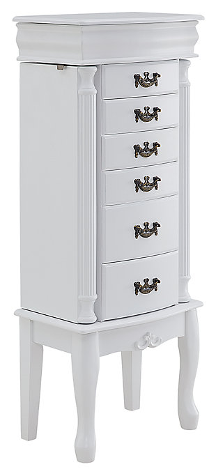 6 Drawer Jewelry Armoire, , large