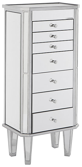 7 Drawer Jewelry Armoire Ashley, Ashley Furniture Mirror Jewelry Armoire