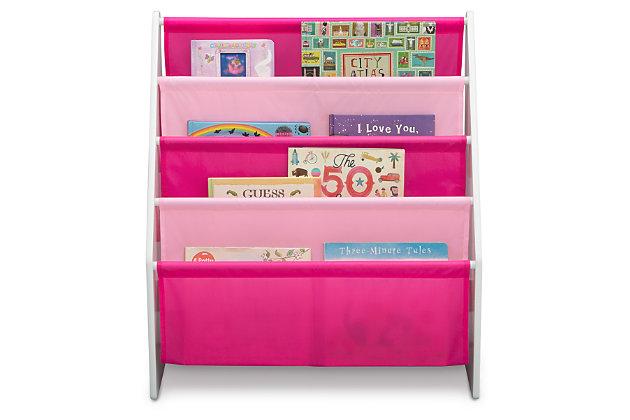 NEW Childrens Organisation Crayon Bookcase Shelf Storage Rack Sling