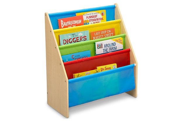 Delta Children Sling Book Rack Bookshelf For Kid, Multi, large