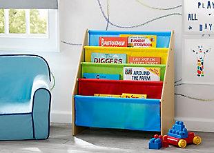 Delta Children Sling Book Rack Bookshelf for Kid, Multi, rollover