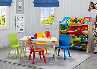 Delta Children Kids 12 Bin Toy Storage Organizer, Multi, large
