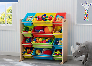Delta Children Kids 12 Bin Toy Storage Organizer, Multi, rollover