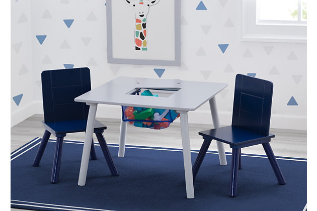 Delta Children Kids Table and Chair Bundle with Storage, , large