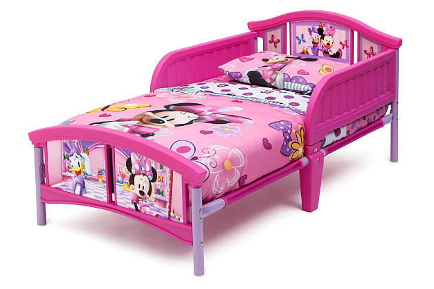 Delta Children Disney Minnie Mouse Plastic Toddler Bed, , large