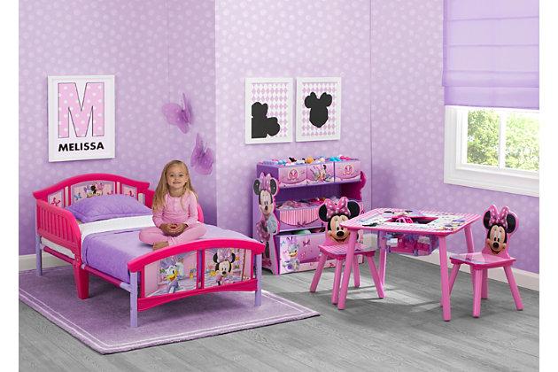 Delta Children Disney Minnie Mouse Plastic Toddler Bed, , large