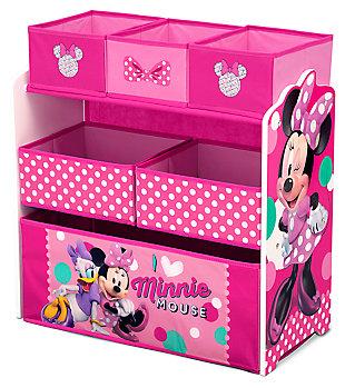 Delta Children Disney Minnie Mouse Multi-Bin Toy Organizer, , large
