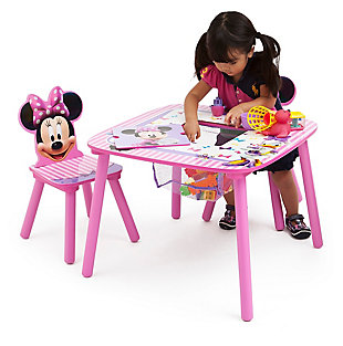Delta Children Disney Minnie Mouse Table And Chair Set With Storage, , rollover