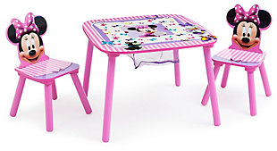 Delta Children Disney Minnie Mouse Table And Chair Set With Storage, , large