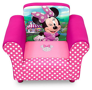 Delta Children Disney Minnie Mouse Upholstered Chair, , rollover