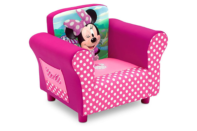 Delta Children Disney Minnie Mouse Upholstered Chair, , large