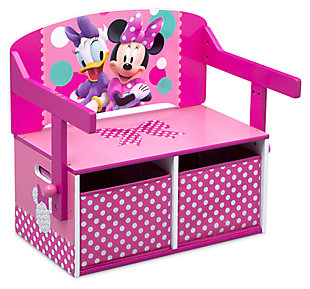 Delta Children Disney Minnie Mouse Kids Activity Bench, , large