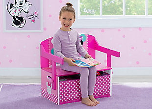 Delta Children Disney Minnie Mouse Kids Activity Bench, , rollover