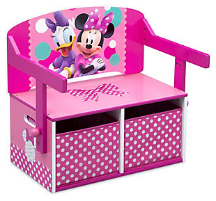 Delta Children Disney Minnie Mouse Kids Activity Bench, , large