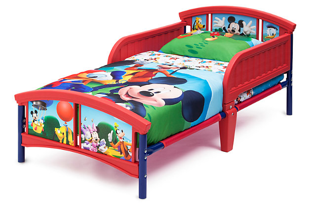 Delta Children Disney Mickey Mouse Plastic Toddler Bed, , large