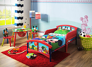 Delta Children Disney Mickey Mouse Plastic Toddler Bed, , rollover