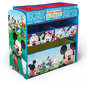 Delta Children Disney Mickey Mouse Multi-Bin Toy Organizer, , large