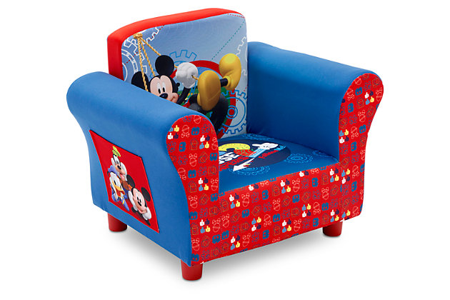 Delta Children Disney Mickey Mouse Upholstered Chair, , large