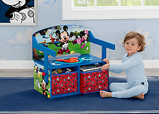 Delta Children Disney Mickey Mouse Kids Activity Bench, , rollover