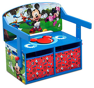Delta Children Disney Mickey Mouse Kids Activity Bench, , large