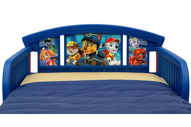 Delta Children Nick Jr. PAW Patrol Plastic Toddler Bed, , large