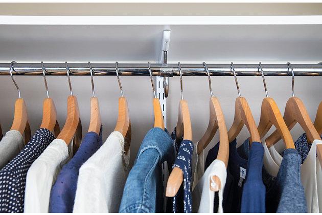 "Organized Living freedomRail® Ultimate Adjustable Closet Kit, 48""-52"", Chocolate Pear, large"