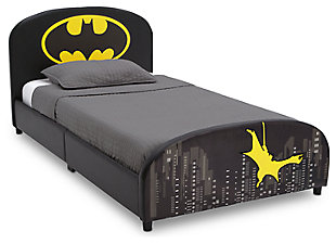 Delta Children DC Comics Batman Upholstered Twin Bed, , large