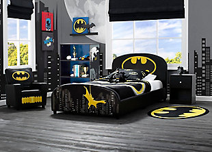 Delta Children DC Comics Batman Upholstered Twin Bed, , rollover