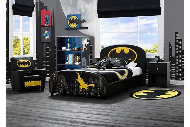 Delta Children DC Comics Batman Upholstered Twin Bed, , large