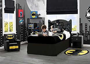 Delta Children DC Comics Batman Upholstered Twin Headboard, , rollover