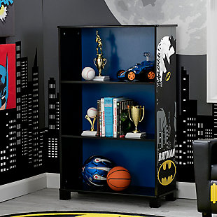 Delta Children DC Comics Batman Deluxe 3 Shelf Bookcase, , rollover