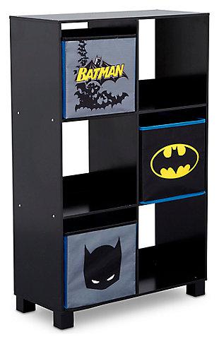 Delta Children DC Comics Batman 6 Cubby Deluxe Storage Unit, , large
