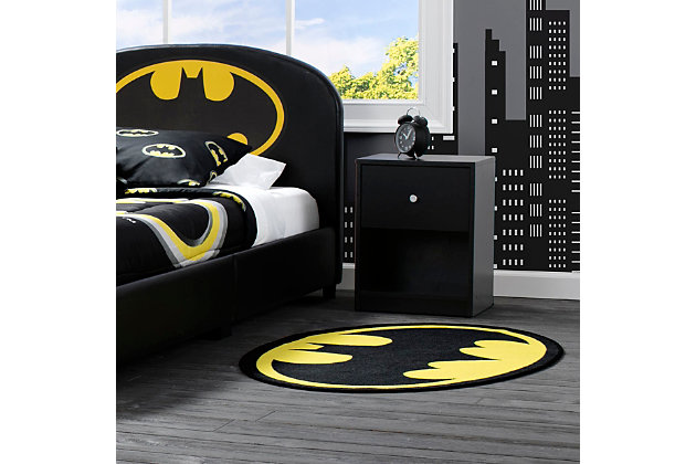 Delta Children DC Comics Batman Soft Area Rug with Non Slip Backing, , large