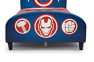 Delta Children Marvel Avengers Upholstered Twin Bed, , large