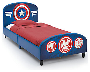 Delta Children Marvel Avengers Upholstered Twin Bed, , large