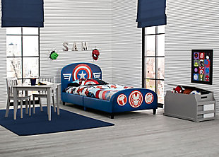 Delta Children Marvel Avengers Upholstered Twin Bed, , rollover