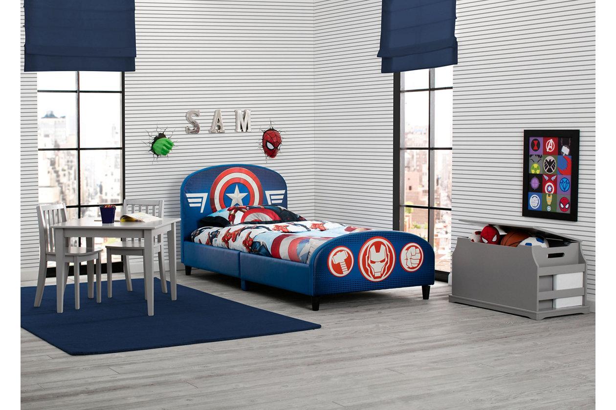 Delta Children Marvel Avengers Upholstered Twin Bed
