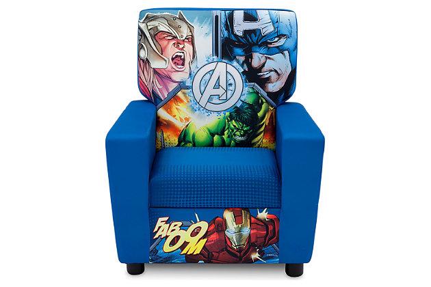 Delta Children Marvel Avengers High Back Upholstered Chair, , large