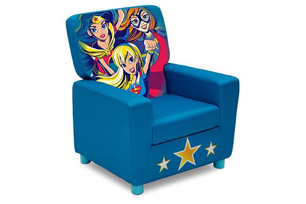 Delta Children DC Super Hero Girl High Back Upholstered Chair, , large