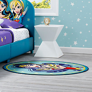 Delta Children DC Super Hero Girl Soft Area Rug with Non Slip Backing, , rollover