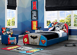 Delta Children DC Comics Justice League Upholstered Twin Bed, , large