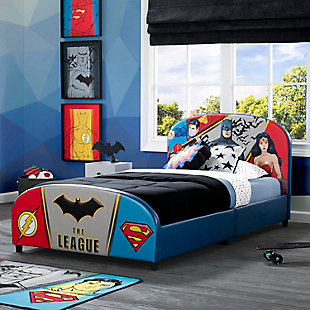 Delta Children DC Comics Justice League Upholstered Twin Bed, , rollover