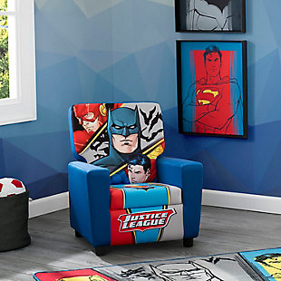 Delta Children Dc Comics Justice League High Back Upholstered Chair, , rollover