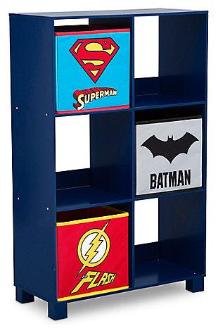 Delta Children DC Comics Justice League 6 Cubby Deluxe Storage Unit, , large