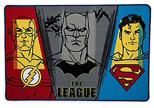 Delta Children DC Comics Justice League Soft Area Rug with Non Slip Backing, , large