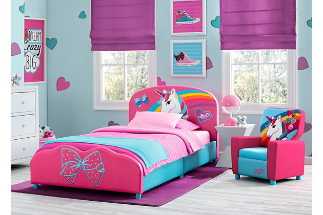 Delta Children JoJo Siwa Upholstered Twin Bed, , large