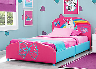Delta Children JoJo Siwa Upholstered Twin Bed, , rollover